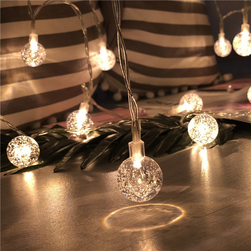 Bubble ball, string lamp, LED lamp, decorative lamp, garland, fairy tale lamp, Christmas outdoor decoration family holiday room