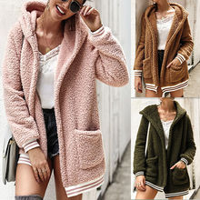 For 2019 Fashion Newly Hot Sales Women Autumn Winter Hooded Jacket Coat Long Sleeve Warm Cotton Coats Cardigan hh88