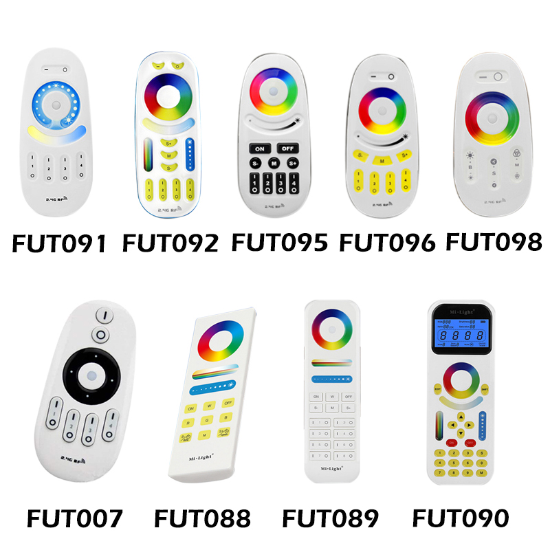 FUT007 FUT088 FUT089 FUT090 FUT091 FUT092 <font><b>FUT096</b></font> Mi light Remote 2.4G 4-Zone LED Controller Button/Touch RF Remote Controller image