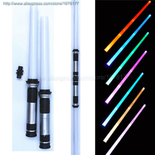 2pcs lot Cosplay Vader LED Darth Light Star Sword toy with Sounds Light saber Lighting Wars Trek blocks Yoda Toys cheap Lecau Model Battery Operated Finished Goods Unisex One Size none Approx76cm Remastered Version 2-4 Years 5-7 Years 8-11 Years