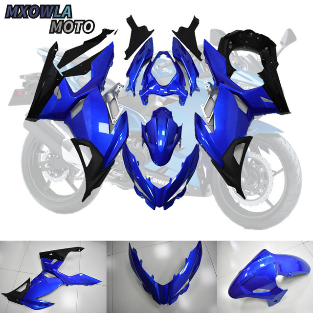 $ 367.89 For Kawasaki Ninja 400 Motorbike Shell 2018 2019 2020 Ninja400 Ninja-400 18 19 2010 Blue Black Fairing Kits (Injection molding)