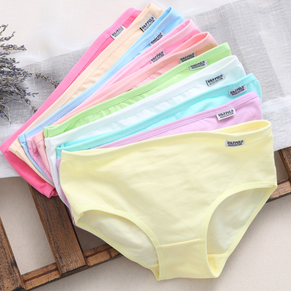 10Pcs Girls's Cotton Blend Panties Briefs Lingerie Shorts For Women Ladies Girls