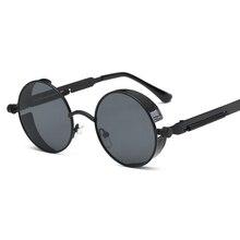 Metal Gothic Steampunk Sunglasses Men Women Fashion Round Glasses Brand Design Vintage High Quality UV400 Eyewear
