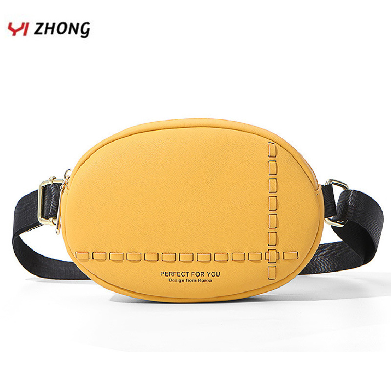 YIZHONG Leather Pink Luxury Waist Bag Fanny Pack For Women Fashionable Chest Bag Ladies Bum Pochete Bolsa Belt Bag Sac Purse