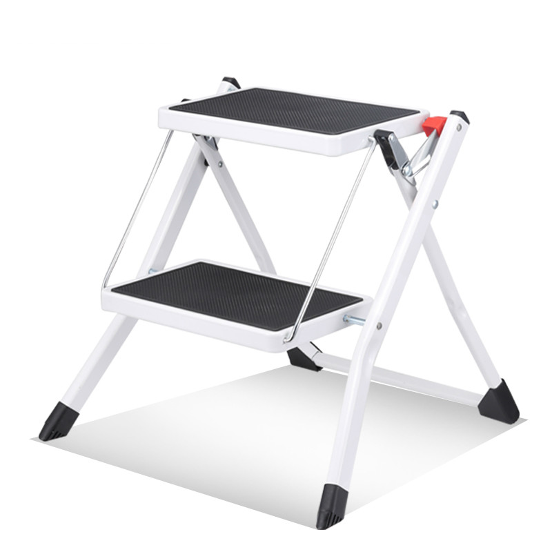 Courtyard Ladder Home Indoor Mini 2 Step Small Ladder Ladder Portable Folding Ladder Iron Ladder Stool