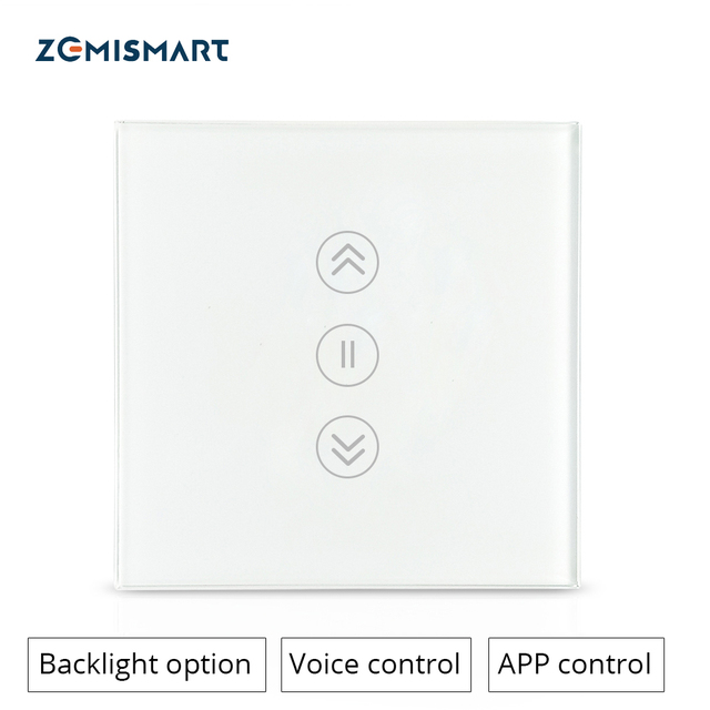 $ US $17.60 Zemismart Google Home Alexa Echo Curtain Switch Blind Switches For Standard Roller Motor Slide Engine Wifi APP Siri Control