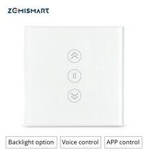 Zemismart جوجل الرئيسية اليكسا صدى الستار التبديل أعمى مفاتيح لمحرك الأسطوانة القياسية الشريحة المحرك واي فاي APP سيري التحكم