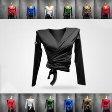Топы Для латинских танцев молочный шелк женские осенние и зимние новые Бальные рубашки одежда с длинными рукавами Самба современные танцевальные Топы VDB1118