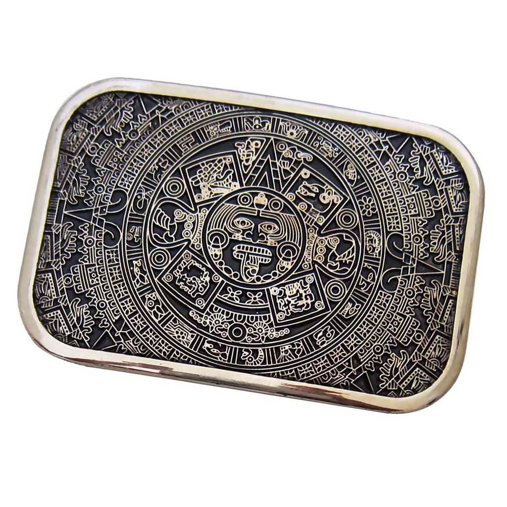 Mens Belt Buckle Vintage Western For Jeans Belt Buckle Cowboys Cool Accessory Square Buckle For 3.6-3.9cm Belt.