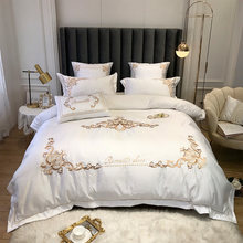 Silk and cotton Summer bedding set Bedding Set Luxury embroidery European Style duvet cover Bed sheet Bed Linen Pillowcases