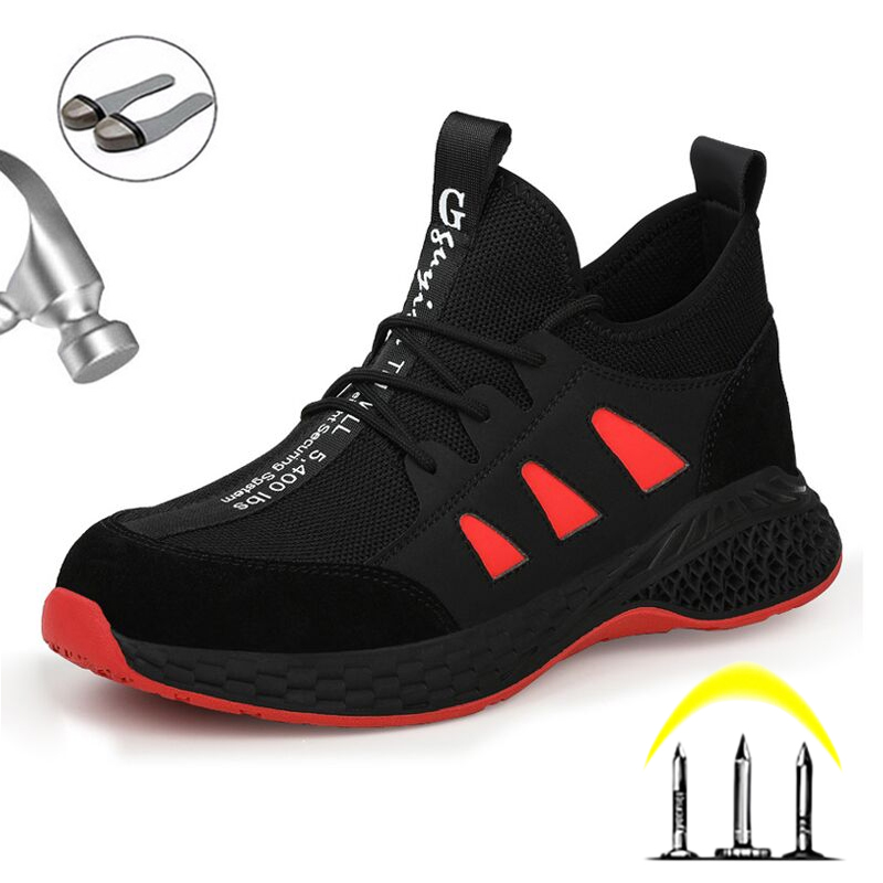2020 NEW Fashion Winter Men's Boots Work Safety Shoes Puncture-Proof Work Sneakers Indestructible Shoes With Steel Toe Cap