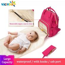 рюкзак сумка для мамы Новый дизайн рюкзак для мам сумка для коляски подгузников Baby большой Ёмкость дорожная сумка для ухода за ребенком, мешок для прогулочной детской коляски, сумка для подгузников