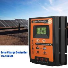 30A MPPT Solar Charge Controller 12V 24V Dual USB Load Timer Solar Panel Battery Regulator With LCD IP32