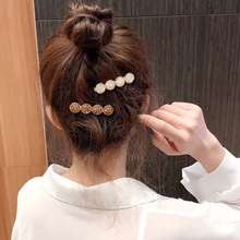 1pc Luxury Shiny Korean Crystal Flower Hair Clips Headband Bijoux Gold Hairpins Barrettes for Women Girl Bridal Jewelry