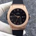 Роскошные брендовые новые мужские часы автоматические механические часы из нержавеющей стали Серебристые черные коричневые кожаные розов...