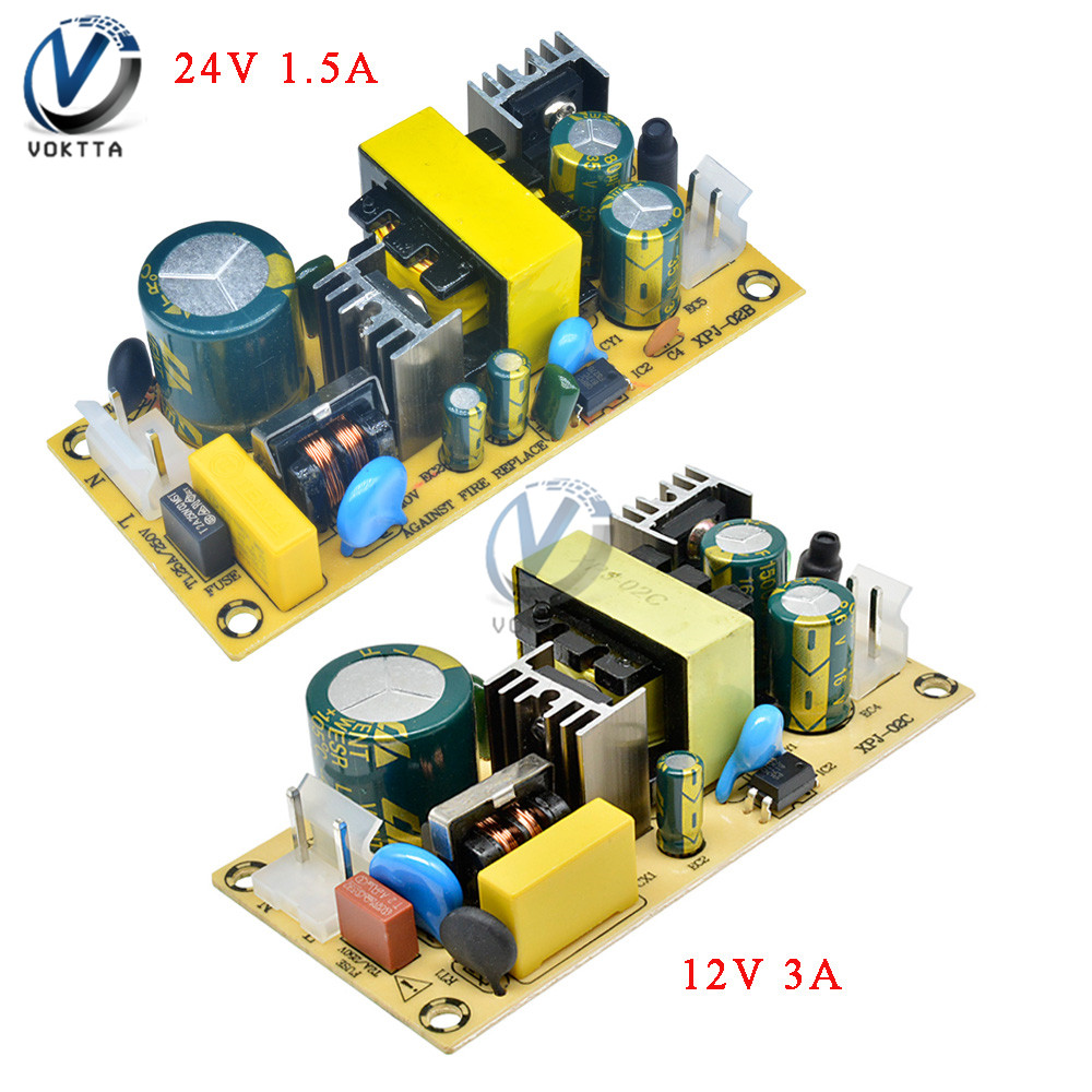 AC-DC <font><b>12V</b></font> 3A 24V <font><b>1.5A</b></font> 36W Switching <font><b>Power</b></font> <font><b>Supply</b></font> Module Bare Circuit 220V to <font><b>12V</b></font> 24V Board Tool for Replace Repair image