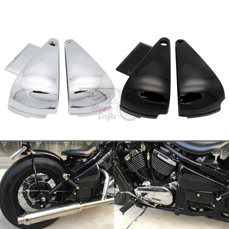 Аксессуары для мотоциклов, боковые крышки аккумулятора из АБС-пластика, защитная рамка, обтекатель для Kawasaki Vulcan 400 800 VN400 VN800A B E Classic
