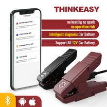 THINKCAR ThinkEASY Car Battery Tester Charger Analyzer Bluetooth Thinkdiag APP Car Accessories Auto Battery Diagnostic Tools