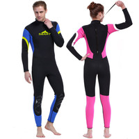 3MM Men Women Dive Wetsuit Rubber Diving Suit Couple Surf Clothing Swimming Long Sleeve Swimsuit Thickened Jellyfish Clothing