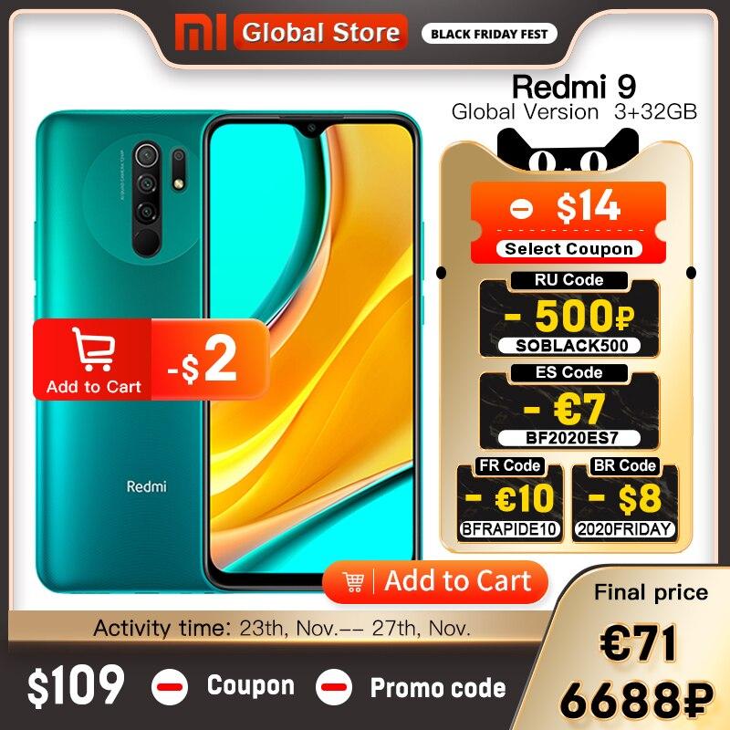 הגלובלי גרסה Redmi 9 3GB 32GB / 4GB 64GB Smartphone אוקטה ליבת מדיה Tek Helio g80 13 MP אחורי מצלמה 5020 mAh Redmi 9 סוג c|טלפונים ניידים| - AliExpress