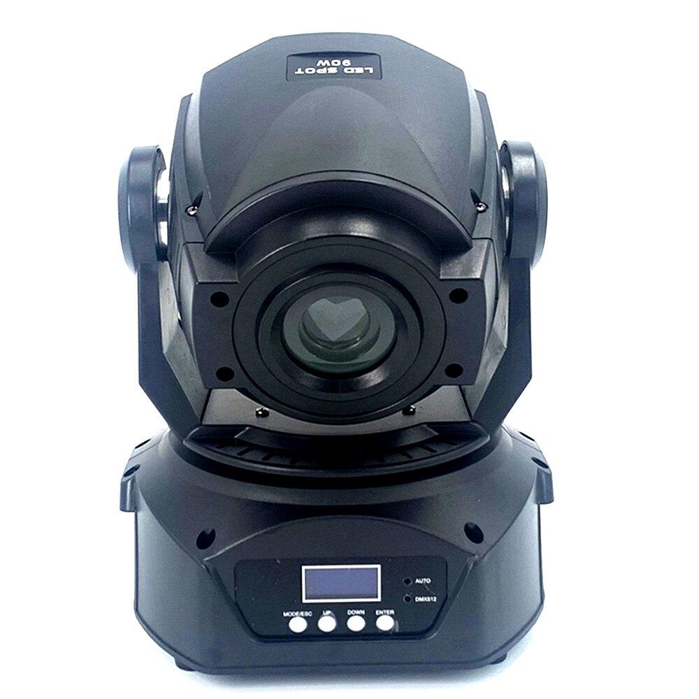 90 W Led hareketli kafa Spot ışık Led ışın Gobos sahne aydınlatma 8 gobos 90 Watt mobil DJ gösterisi 150w hareketli kafa