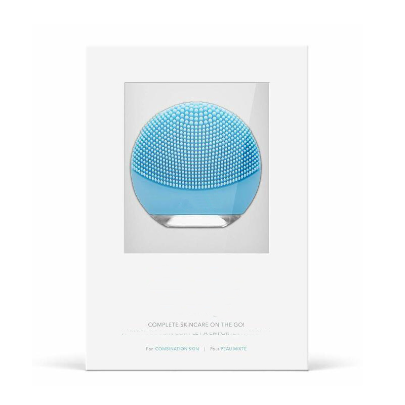 Mini Face Cleansing A Go Normal Skin Compact Facial Brush & Anti Aging Massager Complete Skincare On The Go Red/Pink/Blue