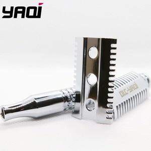 Бритва для влажного бритья Yaqi хромированная латунная с тяжелой ручкой