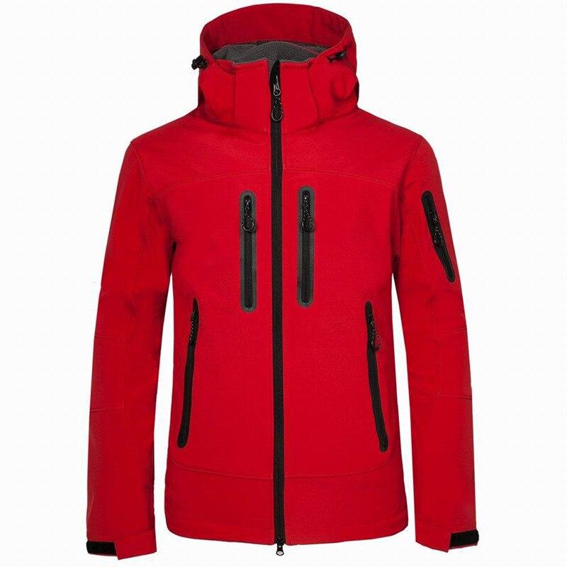 Outdoor Men Softshell Jacket Autumn Winter Windproof Waterproof Fleece Warm Windbreaker Coat Camping Hiking Outerwear Clothing