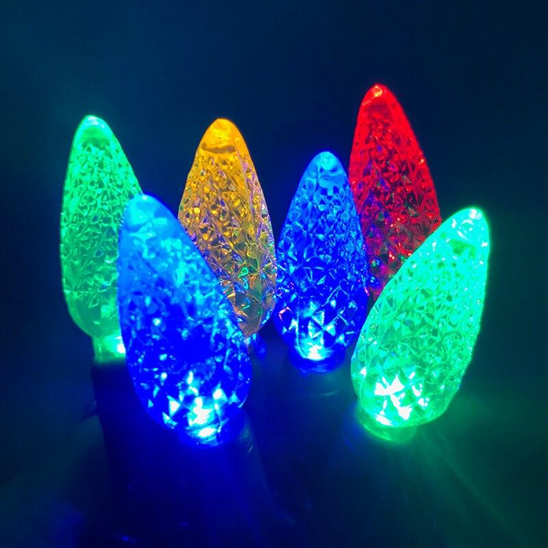 Toprex C6 Strawberry String Lights Christmas Decoration LED Chain Xmas Patio Lights Garland Fairy Lights 7.5m Length