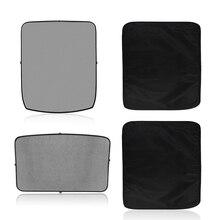 2 stuks/set van voorruit shade nylon mesh warmte bescherming voor Tesla Model 3 auto interieur accessoires