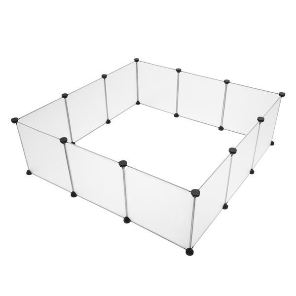 Small Animals Cage Indoor Portable Large Plastic Yard Fence for Small Animals,Rabbits,Puppy Kennel,Crate Tent Pet Playpen 3