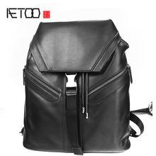 Кожаный рюкзак aetoo модный мужской кожаный с верхним слоем