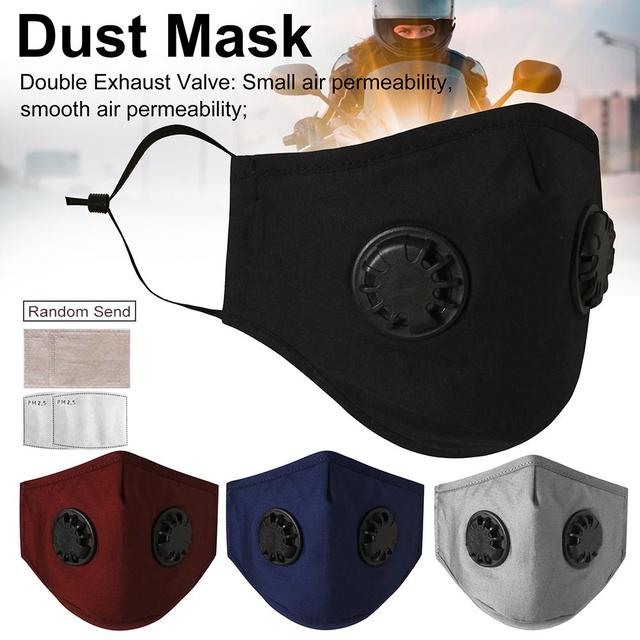 Protection Face Mask Activated Carbon Filter Paper Set 98% Isolate Bacterial Virus Flu Mouth-muffle Respirator Washable Reusable 2