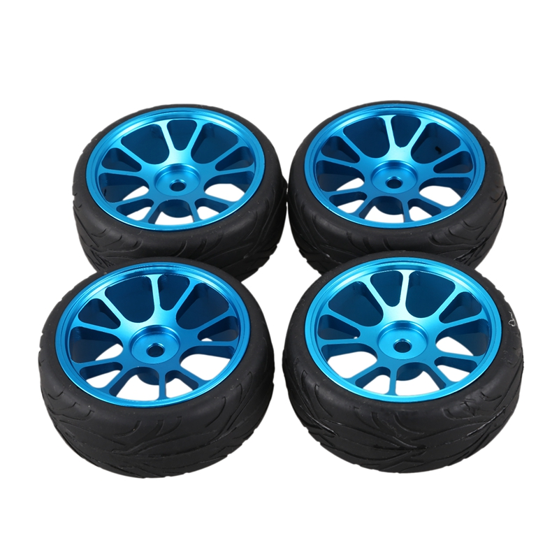 Fish Pattern Tread RC Car Tire Metal Wheel Parts for WL A959 A979 A969 1/18 Remote Control Car image