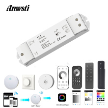 12V LED Dimmer Switch Wifi PWM RF 2.4G Wireless Touch Remote DC 24V 12V Smart Wifi Dimmer Controller for Single Color LED Strip