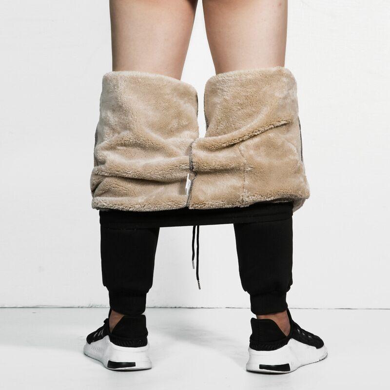 Men Pants Thick Warm Gyms Joggers Sweatpants Mens Zip Pockets Casual Heavyweight Track Trousers Male Pantalon Deportivo Hombre