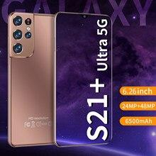 6.26 Polegada hd tela cheia telefone inteligente 8gb ram 256gb rom cectdigi s21 + ultra smartphone android desbloqueado dua sim 5g telefone móvel