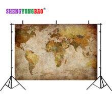 SHENGYONGBAO 2019 hot sale Vinyl Custom Photography Backdrop Prop  World map theme Photo Studio Backgrounds SJD-2007 стоимость