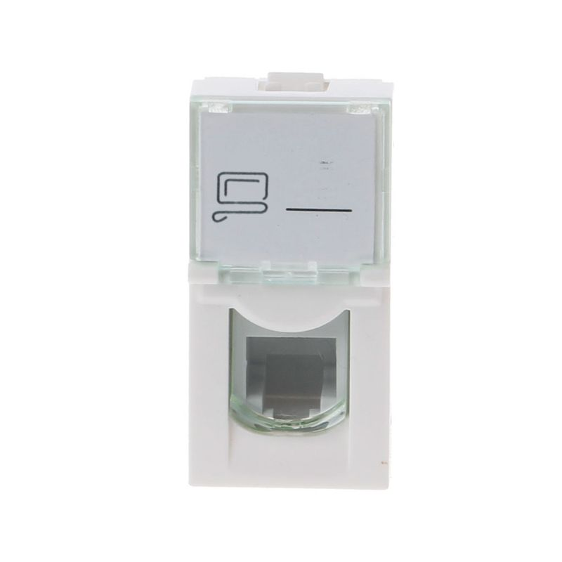 CAT6 Network Module Information Socket RJ45 8P8C Connector Adapter Keystone Jack Standard Wall Plate Small