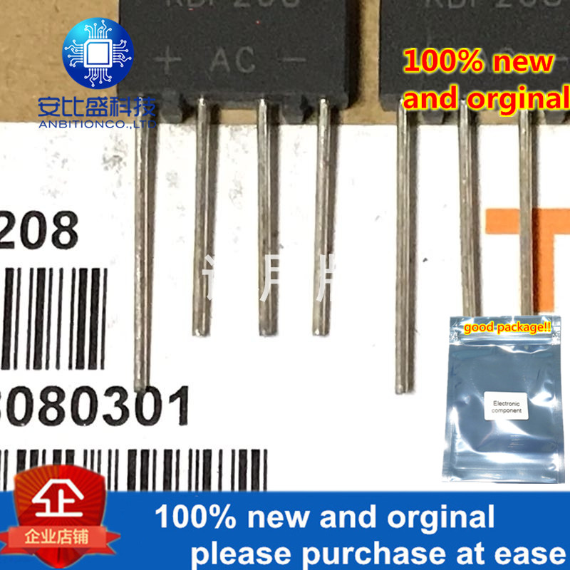 10-20pcs 100% New And Orginal KBP208 2A800V Rectifier Bridge