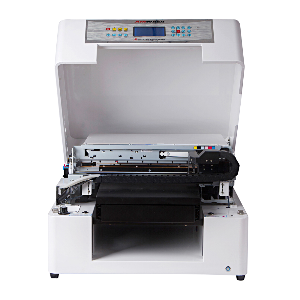 Top Selling Print Varnish And White Ink Airwren UV Flatbed Tabletop Printer