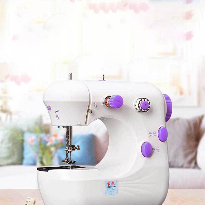 Portable Mini Beginner Sewing Machine 2 Speed Embroidery Sewing Machine Easy To Use Sturdy Quilting Machine Sewing Machines image