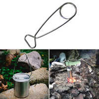 Hanging Pot Hanging Hooks Water Cup Hooks Outdoor Gadgets Camping Cookware Stainless Steel Open Fish Mouth Fishing