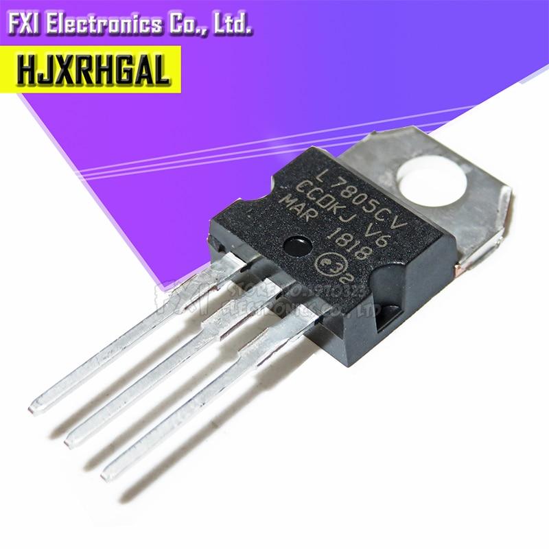 10PCS L7805CV TO220 L7805 TO-220 7805 LM7805 MC7805 stabilivolt voltage-regulator tube New original