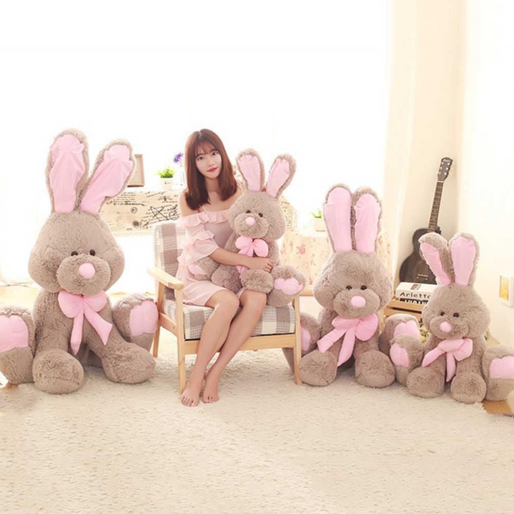 40cm גדול ארנב בעלי החיים בפלאש חמוד ממולאת רך בובת תינוק תפסיק לבכות שינה לפייס צעצוע מתנה לילדים חברות יום הולדת מתנות