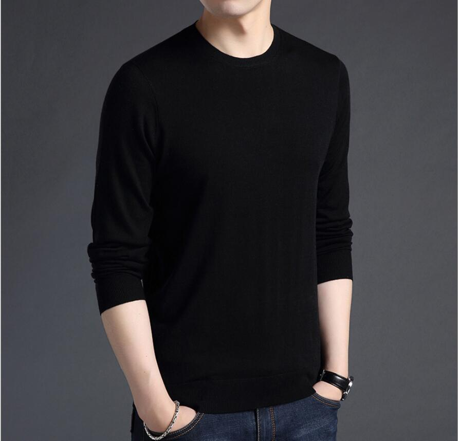 2019 New Style Autumn Striped Sweater Mens Brand Casual Male Sweater O-Neck Slim Fit Knitting Men Sweaters Pullovers