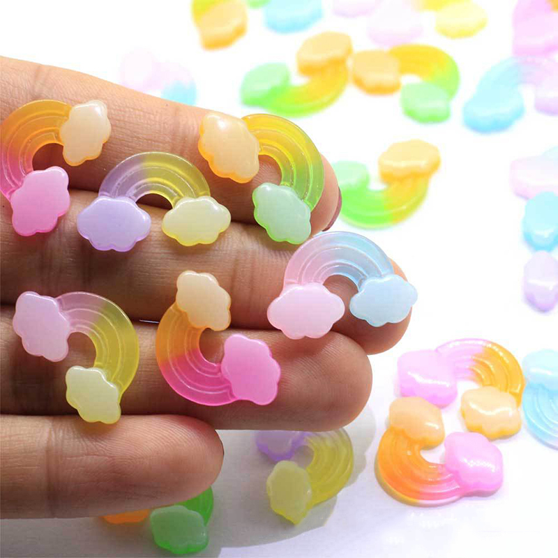 Boxi 10pcs Resin Rainbow Slimes Additives Charms New Cute Kawaii DIY Kit  Accessories Filler For Fluffy Cloud Clear  Slime Clay