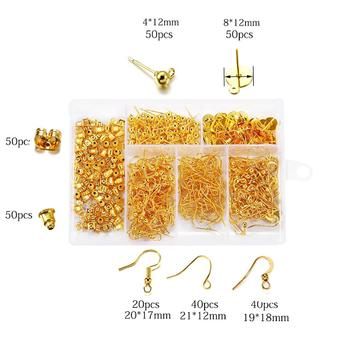 300pcs 4Color Jewelry Findings Set Necklace Chain Earring Hook Wire Jewelry Needle Mixed Style Jewelry Making Supplies kits цена 2017