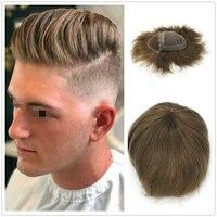 Hstonir невидимые швейцарские кружевные натуральные волосы remy натуральный парик мужские волосы H051