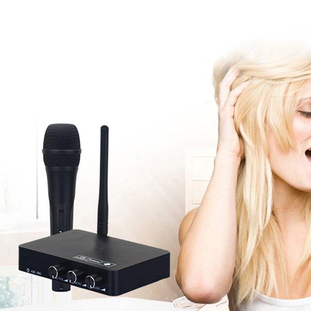 חדש כף יד אלחוטי קריוקי מיקרופון קריוקי נגן בית קריוקי הד מיקסר מערכת סאונד הדיגיטלי אודיו מיקסר שירה מכונת